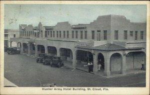 St. Cloud FL Hunter Arms Hotel Bldg c1920s Postcard