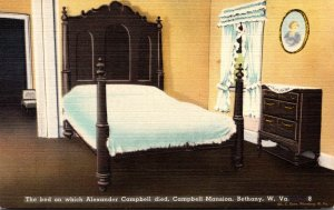 West Virginia Bethany Campbell Mansion Bed On Which Alexander Campbell Died