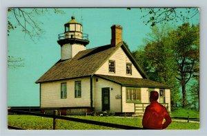 Traverse City MI- Michigan, Old Mission Lighthouse, Vintage Chrome Postcard