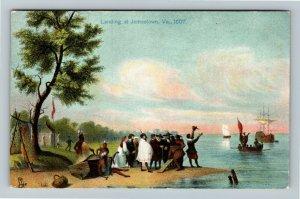 Jamestown Exposition 1907, Tuck Series 2484, Landing at Jamestown 1607 Postcard