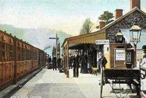 Postcard c1905 Looe Train Railway Station, Cornwall Reproduction B33