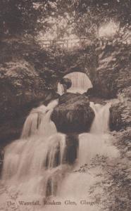 Rouken Glen Waterfall Glasgow Antique Postcard