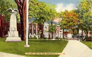 VT - Burlington. City Hall and the Park