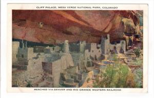 MESA VERDE, Colorado, 1900-1910's; Cliff Palace, Mesa Verde National Park