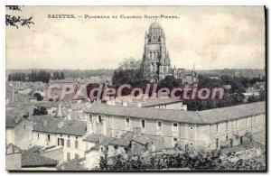 Old Postcard Saintes Panorama Tower And St. Peter