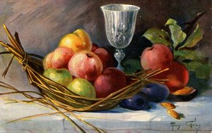 Fruit Still-Life.  Artist: Mary Golay.  Series 598