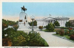 DC - Washington, Sherman Statue & U. S. Treasury