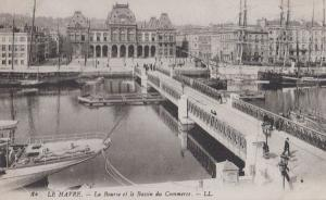 Le Havre Bassin Du Commerce La Bourse Boat Harbour France French Postcard