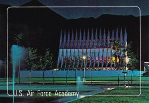 Cadet Chapel At Night U S Air Force Academy Colorado Springs Colorado 1989