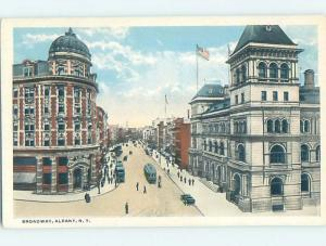 Unused W-Border STREET SCENE Albany New York NY W1548