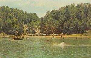 Moravian North Carolina~Bob's Fish Lake~Bathing Beach~Outhouse~1950s Cars~PC