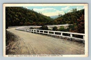 Cumberland MD, National Pike, Bear Creek Cove, Vintage Maryland Postcard