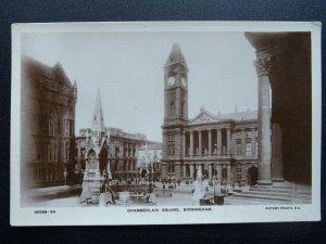 Birmingham CHAMBERLAIN SQUARE c1910 RP Postcard by Rotary
