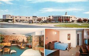 Parma Ht's Ohio~Fireplace in Lobby~TV is On~Aristocrat South Nursing Home 1970s