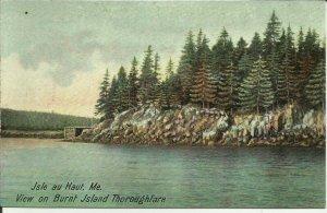 Isle Au Haut, Me., View On Burnt Island Thoroughfare