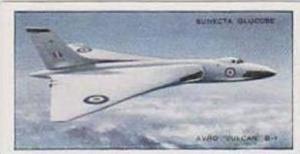 R L Jones Vintage Trade Card 1956 Jet Aircraft Of The World No 19 Avro Vulcan...