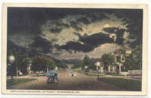 Indianapolis, Indiana, 1910-1920s ; Maple Road Boulevard, (At Night),