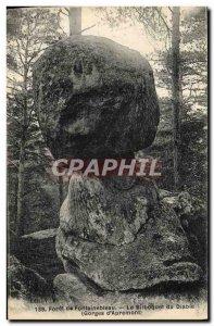 Old Postcard Forest of Fontainebleau The Devil bilboquet Gorges d & # 39Apremont