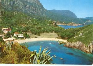 Greece, Corfu, Paleocastrizza, 1965 used Postcard