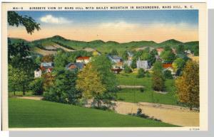 Vivid Mars Hill, North Carolina/NC Postcard, Bailey Mountain