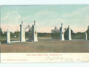 Pre-1907 ENTRANCE AT ROGERS WILLIAMS PARK Providence Rhode Island RI n6609