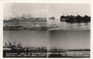 RP: SAN DIEGO , California, 1940s ; Moth Ball Fleet