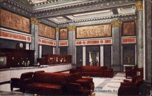 LOUISVILLE KY The Seelbach Lobby c1910 Postcard
