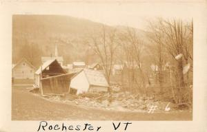 Rochester Vermont Shore House Wreck Real Photo Antique Postcard K86343