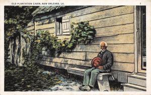 D32/ Black Americana Postcard c1910 New Orleans Louisiana Plantation Cabin 13