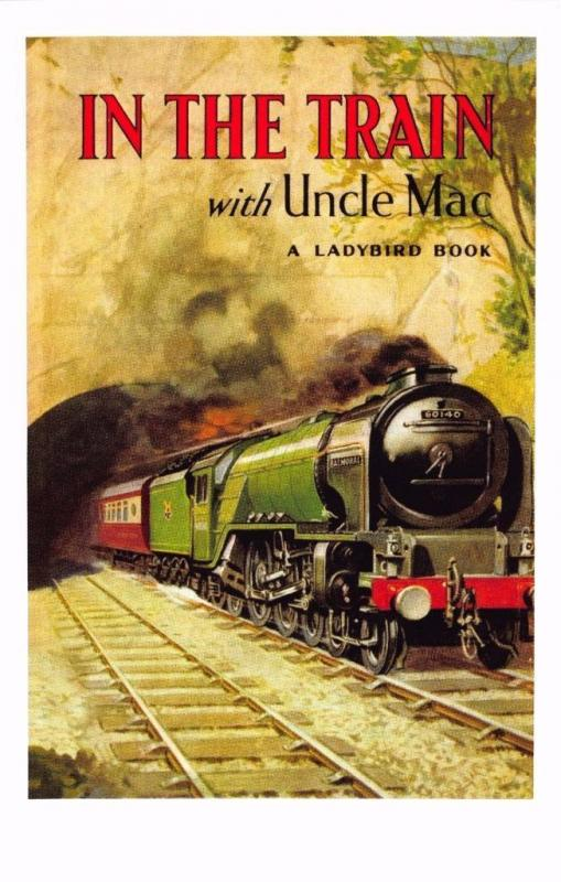 Postcard In The Train with Uncle Mac (1955) Series 455 Ladybird Book Cover