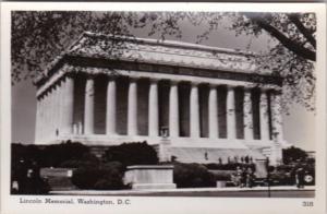 Washington D C The Lincoln Memorial Real Photo