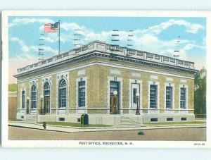 Linen POST OFFICE SCENE Rochester New Hampshire NH hs1602