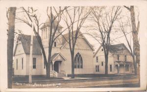 Waverly Iowa~Congregational Church & Parsonage~FA Robinson Harvard IL~1910 RPPC