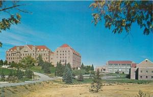 Helena Montana~Carroll College Newly Built Buildings~Field House 1950s Postcard