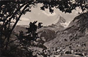 Switzerland Zermatt mit Matterhorn 1948 Photo