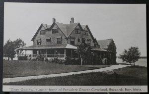 Buzzards Bay, MA - Gray Gables, summer home of President Grover Cleveland - RPPC