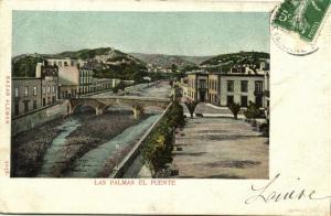 spain, LAS PALMAS, Canary Islands, El Puente (1908) Bazar Aleman 2056