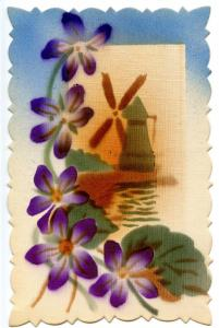Windmill, Purple Flowers