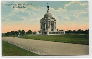 Pennsylvania State Monument Gettysburg Battlefield Pennsylvania 1910c postcard