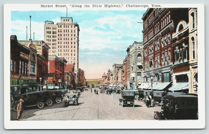 Chattanooga Tennessee~Market Street~Discount Shoe Store~Fischer Bro Co~1920s