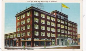 Illinois La Salle Hotel Kaskaskia 1938 Curteich