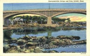 Pawtucketville Bridge  Lowell MA Unused