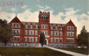 Buckhannon West Virginia WVWC College Street View Antique Postcard K31995