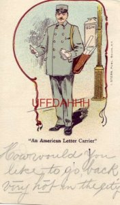 pre-1907 AN AMERICAN LETTER CARRIER 1905