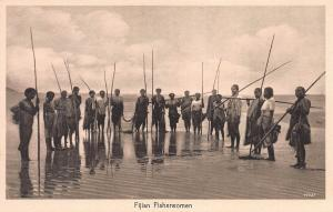 Fijian Fisherman, Fiji, Early Postcard, Unused