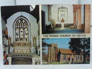 Vintage Multiview Postcard The Parish Church of St Osyth Essex