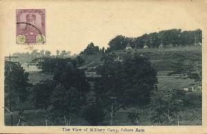 malay malaysia, JOHOR JOHORE BAHRU, View of Military Camp (1920s) Postcard