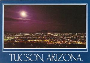 Skyline At Night Tucson Arizona