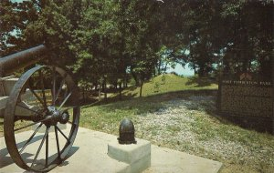 Greenwood MS, Confederate Fort Pemberton Park, Cannon Artillery Position 1960's