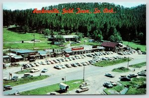 Rapid City South Dakota~Birdseye Rockerville Gold Town~Strip Mall~1950s Cars
